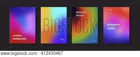 Set Of Colorful Gradient Backgrounds Vector Design. Modern Abstract Posters Collection.