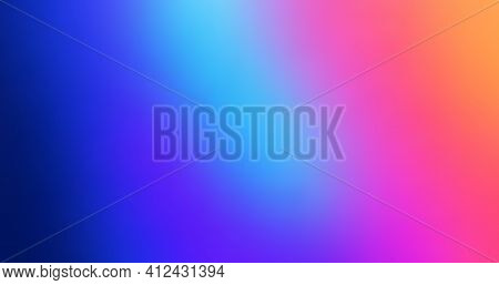 Abstract Blurred Colorful Gradient Mesh Background. Rainbow Backdrop Vector Design. Modern Colored C