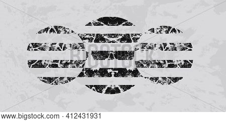 Abstract Modern Striped Background. Minimal Grunge Geometric Composition. Textured Stripes Pattern.