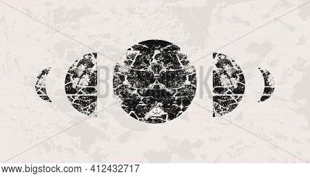 Abstract Mid Century Modern Art Geometric Background. Minimal Textured Pattern Vector Design. Simple