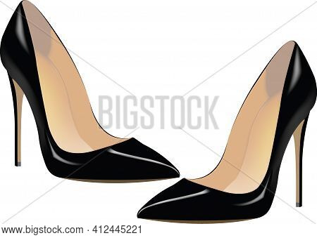 Black Shoes With Women\'s High Heels Black Shoes With Women\'s High Heels