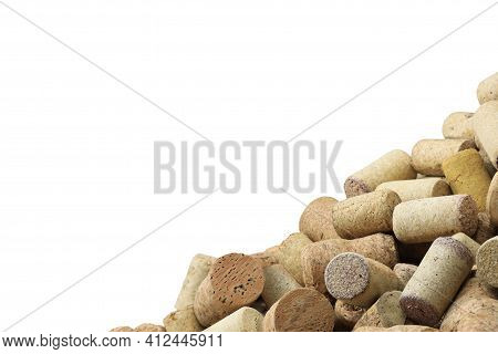 Photo With Wine Corks From Sparkling, Corks From White Wine, Corks From Red Wine And Other Wine Cork