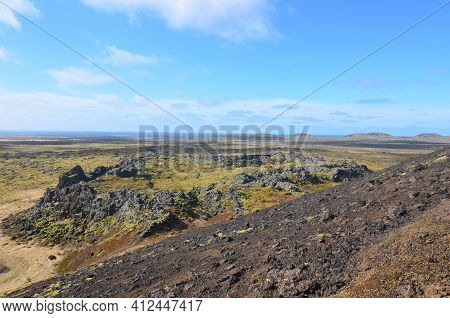 Iceland's Rugged Landscape With Reclaimed Lava Rock.