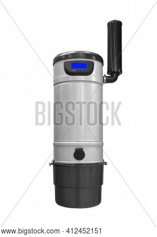 Built-in Vacuum Cleaner Unit Isolated On White Background