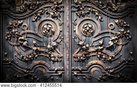 Forged Iron Gates. View Of Wonderful Forged Gates In Full Size