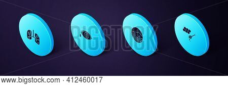 Set Isometric Honeycomb With Honey Dipper, Face In Protective Mask, Reddish Eye Allergic Conjunctivi