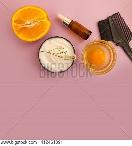 Hair Mask,  On A Colored Background Professional