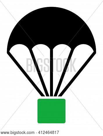 Cargo Parachute Icon. Illustration Style Is A Flat Iconic Symbol. Simple Cargo Parachute Vector Illu