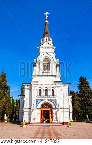 The Cathedral Of St. Michael The Archangel Is The Oldest Orthodox Church In Sochi Resort City In Rus