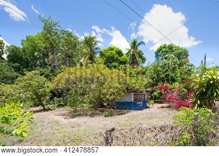 Panama Santo Tomas March 13, Drinks Kiosk In The Jungle In A Sunny Day. Shoot On March 13, 2021