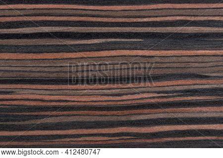 Texture Of  Exotic Macassar Marrone Wood Veneer