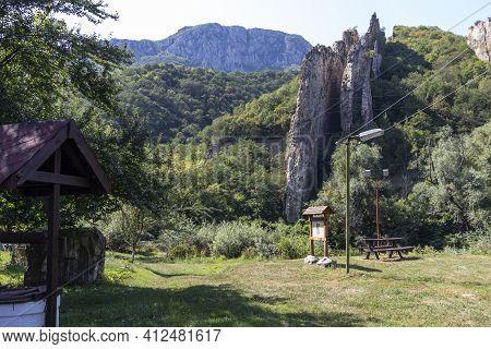 Rock Formations Ritlite  At Iskar River Gorge, Balkan Mountains, Bulgaria