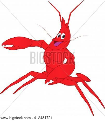 A Cartoon Of A Friendly Lobster Greets Everyone