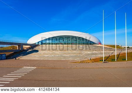 Sochi, Russia - October 04, 2020: Bolshoy Ice Dome At Sochi Olympic Park, Which Was Constructed For
