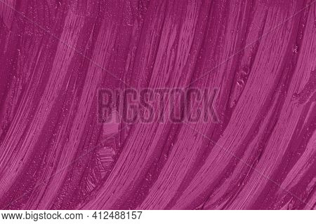 Purple Cosmetics Smear Pattern Background. Liquid Lipstick Cosmetic. Marsala Beauty Product Sample C