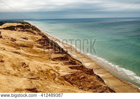 Sand Coast Of Rubjerg Knude, Denmark, Coast Of North Sea