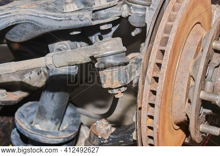 Outer Tie Rod End Ball Joint And Inner Tie Rod End Ball Joint And Wheel Hub And Shock Absorber