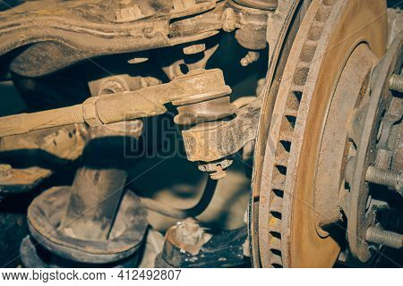 Outer Tie Rod End Ball Joint And Inner Tie Rod End Ball Joint And Wheel Hub And Shock Absorber In Vi