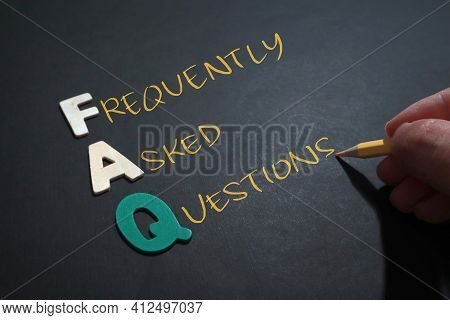Faq Frequently Asked Questions, Text Words Typography Written On Wooden Lettering, Life And Business