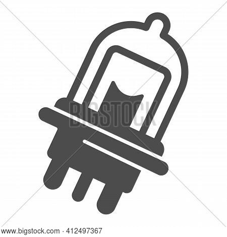 Car Light Bulb Solid Icon, Car Parts Concept, Auto Bulb Sign On White Background, Car Lights Icon In