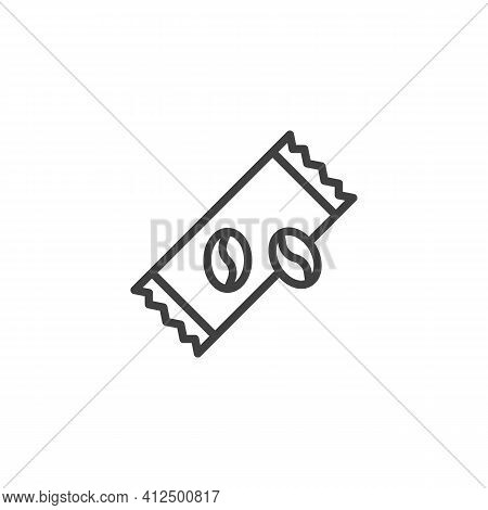 Coffee Sachet Line Icon. Linear Style Sign For Mobile Concept And Web Design. Instant Coffee Stick O