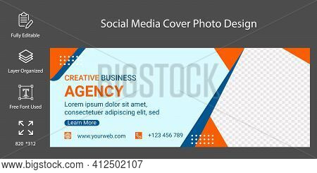 Social Media Cover Page Or Photo Template Design. Timeline Web Banner Template For .social Media Cov