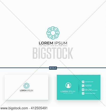 Apothecary Logo Feminine Style Pattern Abstract Line