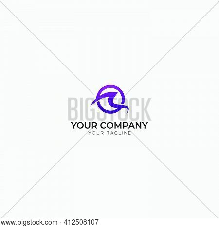Initial Letter R And O Logo Abstract