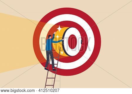 Secret To Be Success, Business Strategy To Reach Target Or Goal, Objective Or Career Challenge Conce