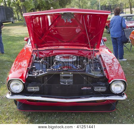 Red Ford Maverick Grabber Front View