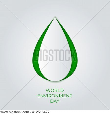 World Environment Day.  Paper Art Concept.the Celebration Dedicated To Help Protect, And Conserve Wo