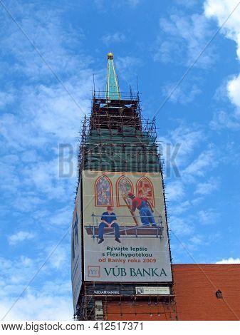 Bratislava, Slovakia - 10 Jun 2011: The Church In Bratislava, Slovakia