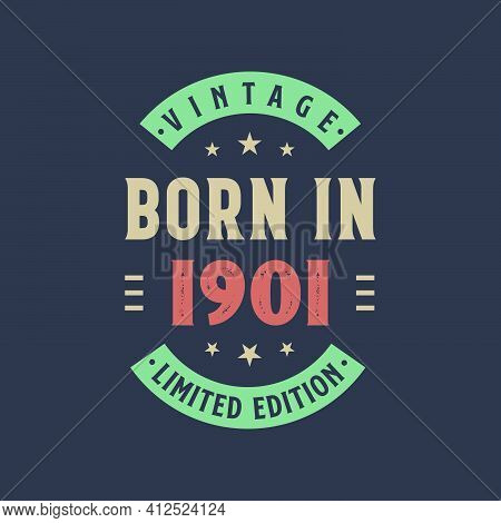 Vintage Born In 1901, Born In 1901 Retro Vintage Birthday Design