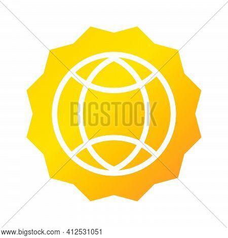 Global Network Icon. Global Network  Illustration. Flat Vector Icon. Can Use For, Icon Design Elemen