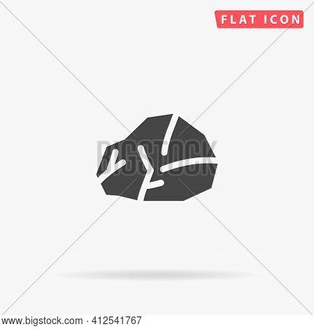 Granite Rock Stone Flat Vector Icon. Hand Drawn Style Design Illustrations.