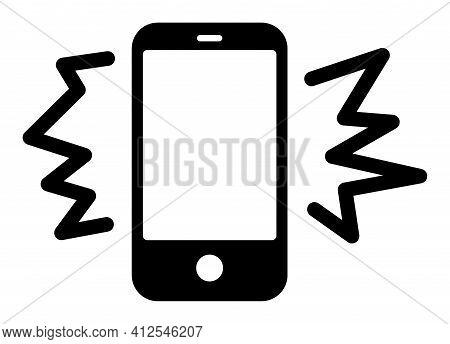 Smarthone Noise Icon. Illustration Style Is A Flat Iconic Symbol Isolated On A White Background. Sim