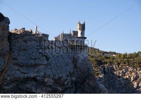 Swallows Nest Is An Ancient Castle On A Rock, Yalta, Crimea