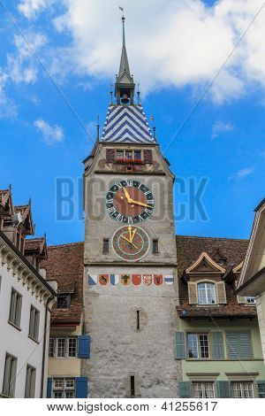 Zytturm / Tower Of Zyt In The Swiss City Of Zug