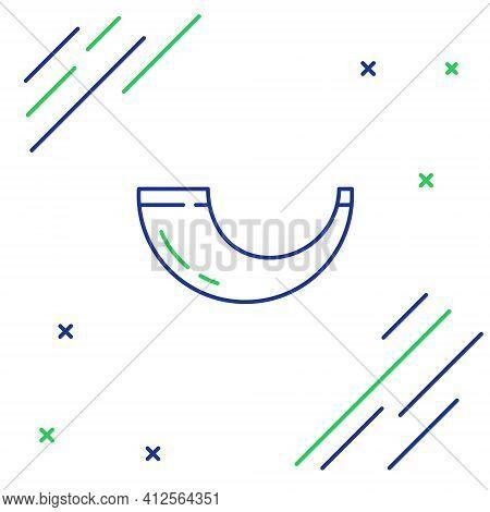 Line Traditional Ram Horn, Shofar Icon Isolated On White Background. Rosh Hashanah, Jewish New Year