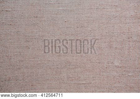 Natural Linen Texture For The Background. Grey Linen Canvas.