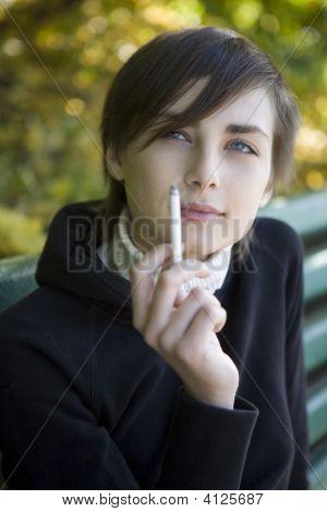 The Smoking Young Girl