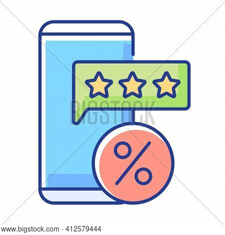 Review For Discount Rgb Color Icon. Earn Points To Use For Purchases In Stores. Percentage For Purch