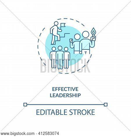 Effective Leadership Concept Icon. Achieving Goals Idea Thin Line Illustration. Providing Direction
