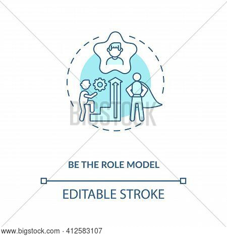 Be Role Model Concept Icon. Leadership And Motivation Idea Thin Line Illustration. Inspiration And S