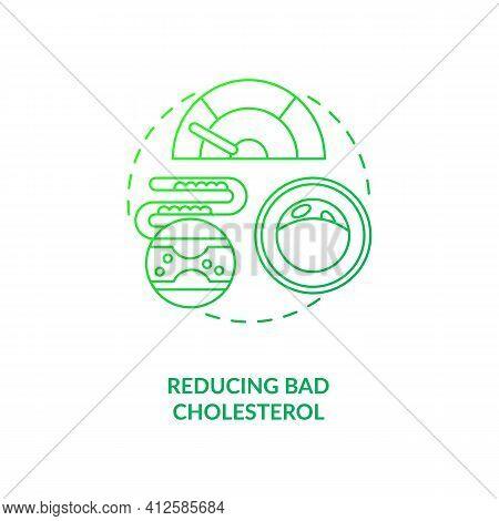 Reducing Bad Cholesterol Dark Green Concept Icon. Healthy Eating. Proper Metabolism. Intermittent Fa