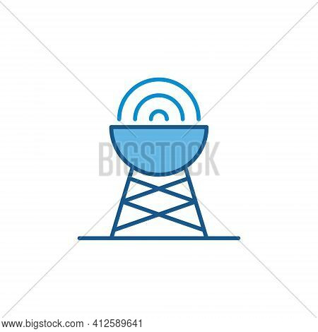Vector Antenna With Signal Concept Colored Icon