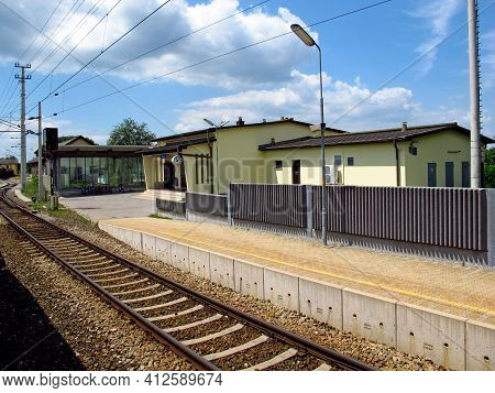 Bratislava, Slovakia - 10 Jun 2011: The Train Station On The Border Slovakia And Austria