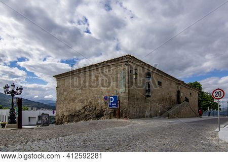 Belmonte, Portugal; May 2017 :building Housing The Zêzere Museum, Which Displays The Ecosystems On T