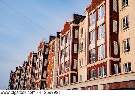 Typical Low-rise Apartment Building. Construction Of Affordable Housing.