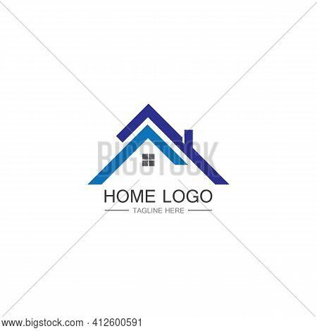 Home And House Logo Design Vector, Logo , Architecture And Building, Design Property , Stay At Home